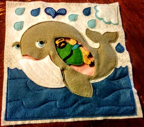 bible quiet book pattern jonah and the whale felt page in a bible quiet book