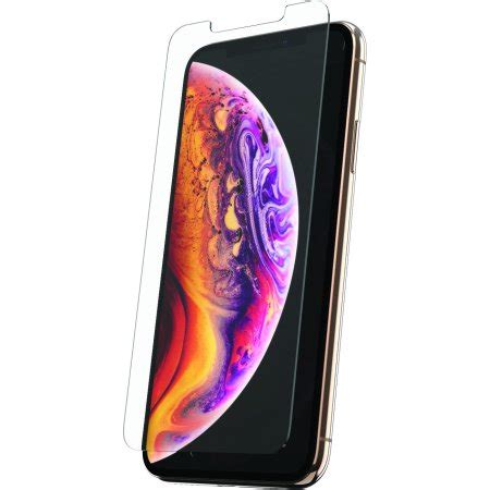 onn tempered glass screen protector for iphone xs max walmart