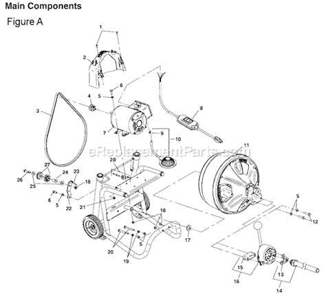 Ridgid K 400 Parts List and Diagram : eReplacementParts.com