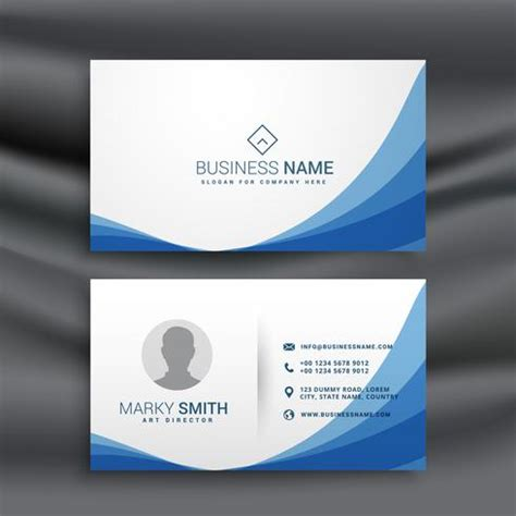 Free Call Cards Design Templates by Blue Wave Simple Business Card Design Template