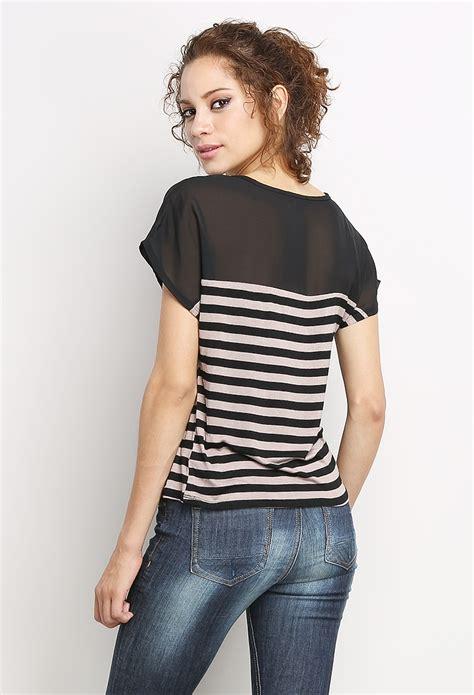 Stripe Casual Top 24540 striped casual top shop tops at papaya clothing