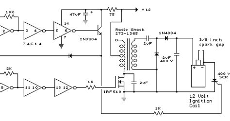 capacitive discharge firing circuit mosfet irf510 capacitor discharge ignition cdi circuit and explanation electronic circuits