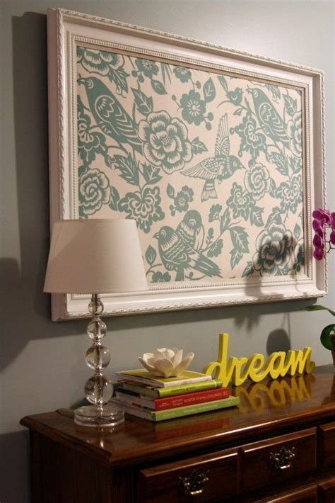 framed fabric cheap fix  cover large empty wall   home pinterest sprays frames