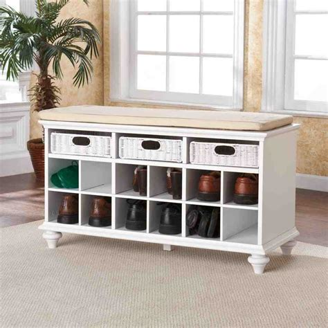 white entry way bench white entryway storage bench home furniture design