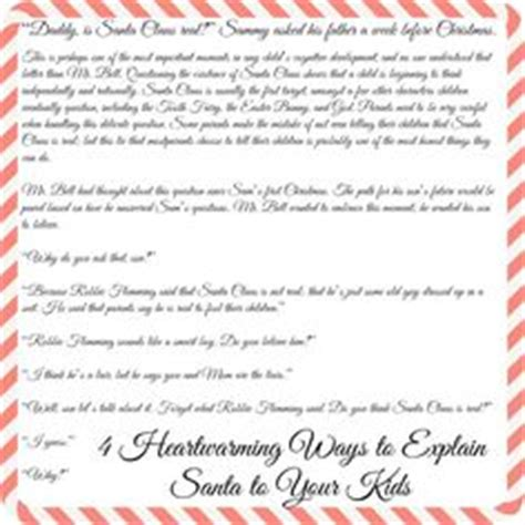 Parent Letter Explaining Santa 1000 Ideas About Letter Explaining Santa On Santa Letter Letter From Santa And
