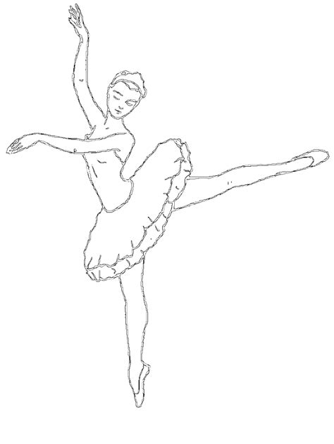 Dancer Outline by Free Outline Of A Ballerina Coloring Pages
