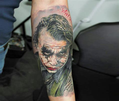 tattoo batman joker joker large art gallery inked one