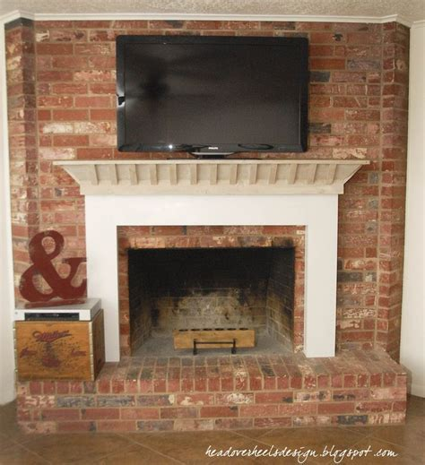build fireplace mantel surround brick woodworking