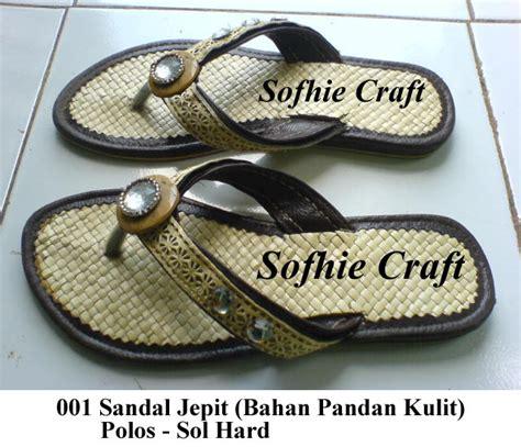 Sandal Kulit Asli Tasik Malaya sandal pandan kulit jepit batok mute sofhie craft