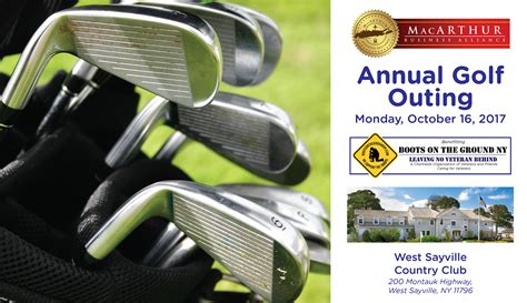 Mba Of Ny Golf Outing by Sponsors Players Wanted Annual Golf Outing Monday