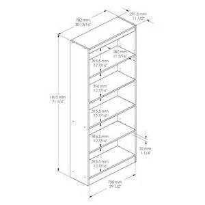 Instructions For Mainstays 3 Shelf Bookcase Standard Bookcase Dimensions