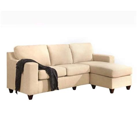 Reversible Sectional Sofa Chaise Acme Furniture Vogue Reversible Chaise Sectional In Beige 05913w