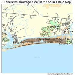oak island carolina map aerial photography map of oak island nc carolina