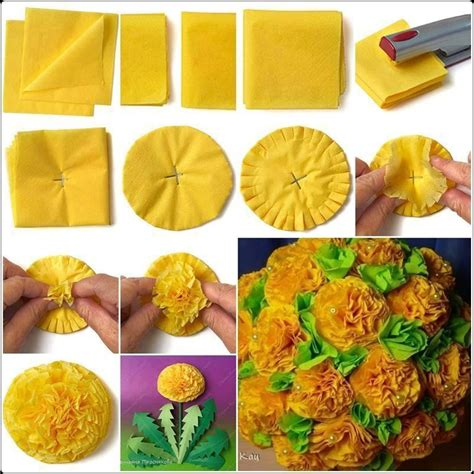 How To Make Large Tissue Paper Flower Balls - diy tissue paper flower tutorials xcitefun net
