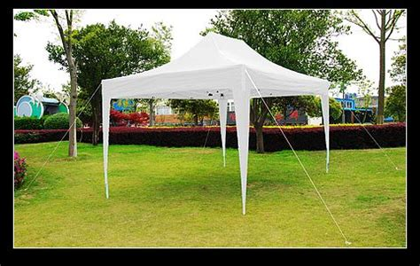 15 X 20 Gazebo 10x15 White Easy Set Pop Up Tent Canopy Gazebo