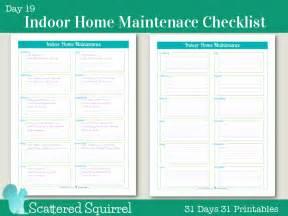 home maintenance checklist day 19 indoor home maintenance checklists