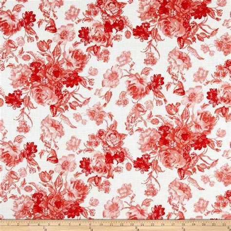 knit print fabric floral pique knit print ivory coral discount