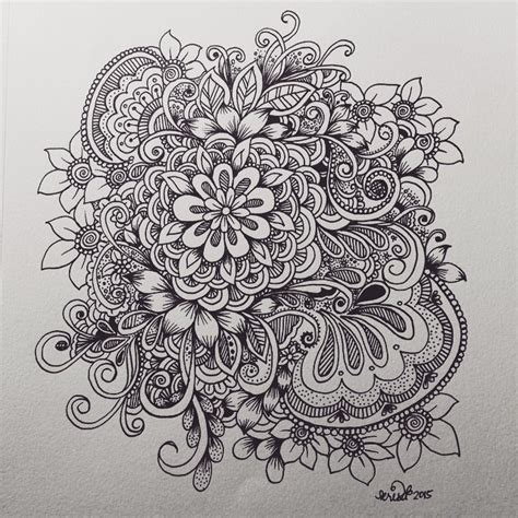 how to draw doodle flowers flower cluster doodle kcdoodleart