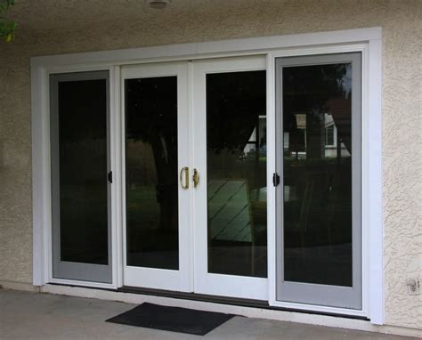 4 panel patio sliding doors as idea and