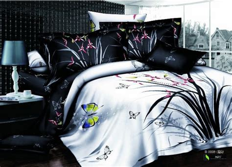 king size butterfly comforter set reactive printing bed set butterfly pattern cotton bedding