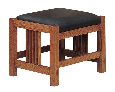Mission Style Ottoman Stickley San Francisco Gus Bow Arm Morris Chair