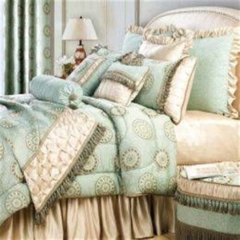 turquoise and gold bedding aguamarina shabby chic