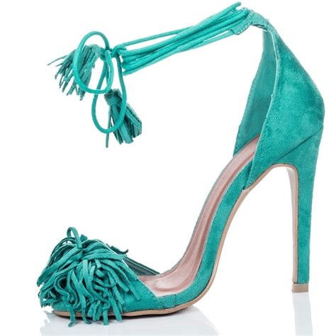 nnine turquoise sandals shoes from spylovebuy