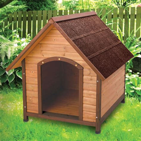 roof dog medium 30 inch solid wood dog house with waterproof