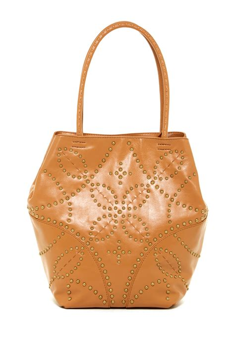 Get Look Hiltons Fiore Tote by Fiore Leather Tote Nordstrom Rack