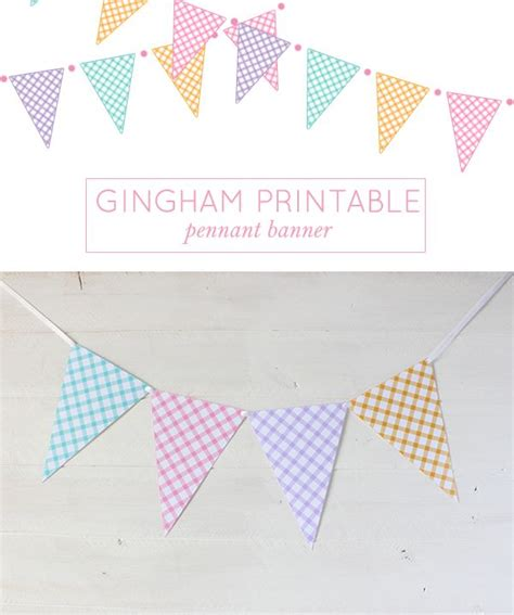 printable birthday pennant banner 194 best images about garlands banners and buntings on