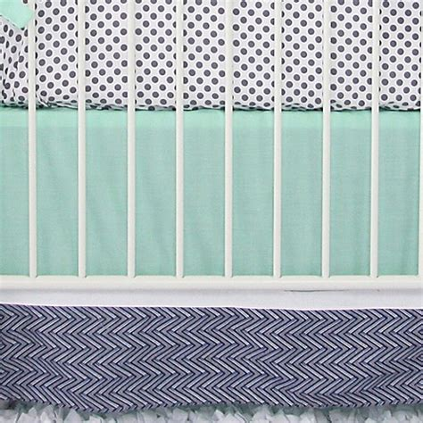 caden lane crib bedding caden lane 174 arrow chevron crib bedding collection in mint navy bed bath beyond