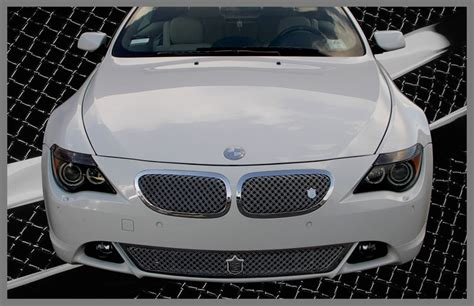 bmw grill bmw 645i 645ci chrome bentley dual weave mesh grille