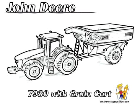 coloring page of john deere tractor tractor coloring pages