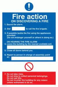 fire action notices what is the best way of effectively