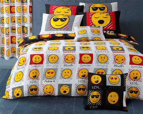 emoji bed emoji smiley emoticon reversible themed design bedding