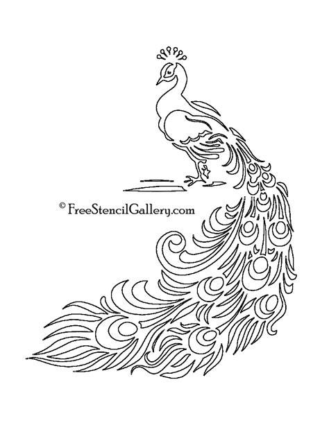 peacock stencil free stencil gallery