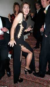Buy Elizabeth Hurleys Safety Pin Versace Dress by Elizabeth Hurley Dines Out With The Royals Co Jake