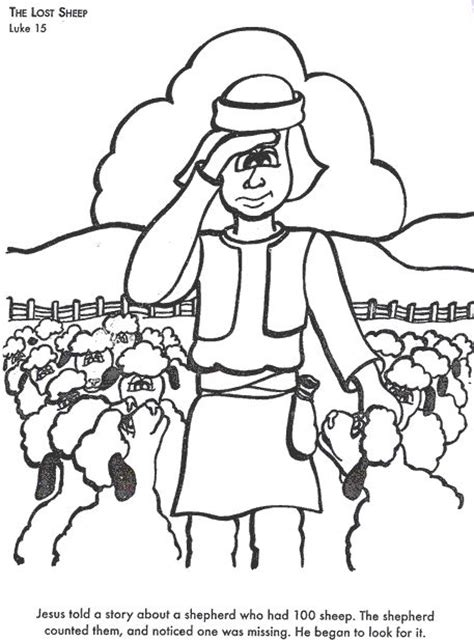 coloring page the lost sheep 17 best images about sunday school lost sheep on