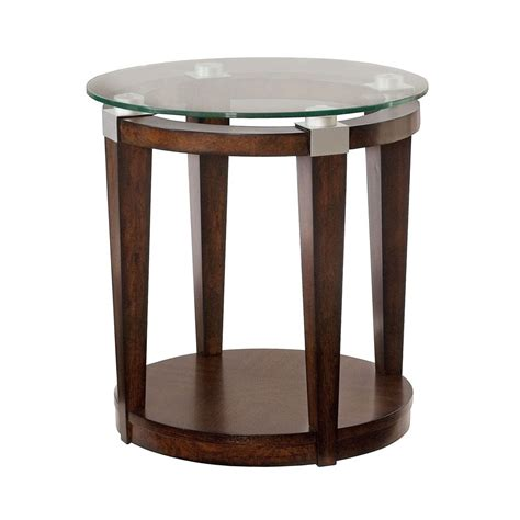 Brown Accent Table | hammary 247 916 solitaire round accent table in rich dark