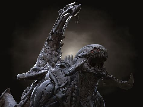 3d hd model gothic dragon 29 best images about zerg spider xenomorph