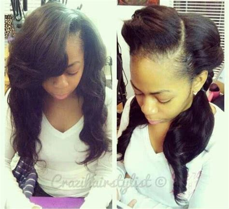 How Much Hair To Leave Out In A Sew In | sew in with leave out hair make up pinterest sew