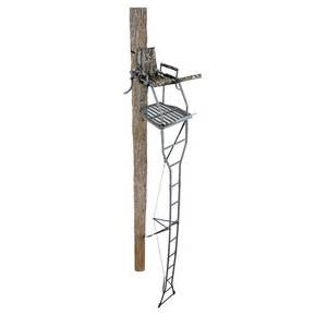 tree stand for realtree ameristep 174 18 buck buster ladder stand gray and realtree