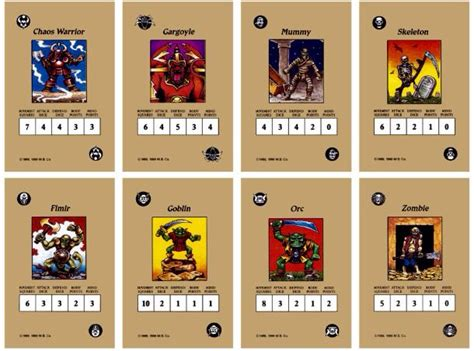 Gift Card Monster - american heroquest monster cards fantasy retro games pinterest cards and monsters