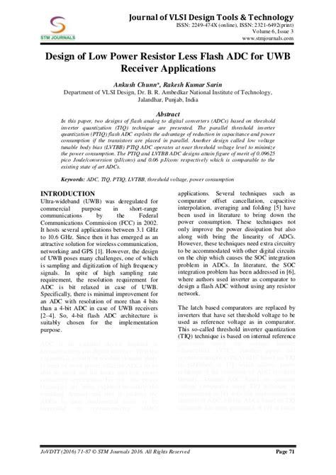 vlsi design journal journal of vlsi design tools technology vol 6 issue 3