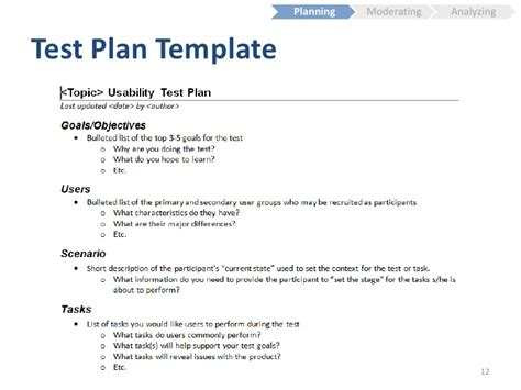 usability test plan template usability testing fundamentals