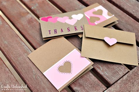 Handmade Card Blogs - paint chip handmade thank you cards