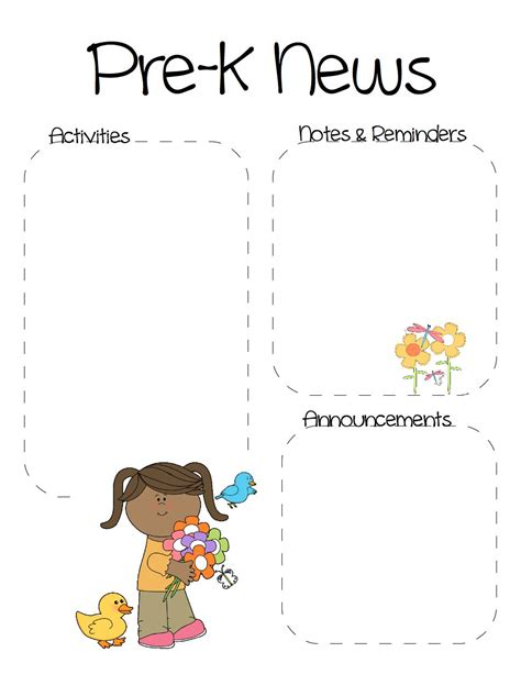 free pre k newsletter templates pre k newsletter template the crafty