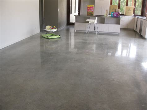 modern floor polished concrete honed but not grinded potentially a