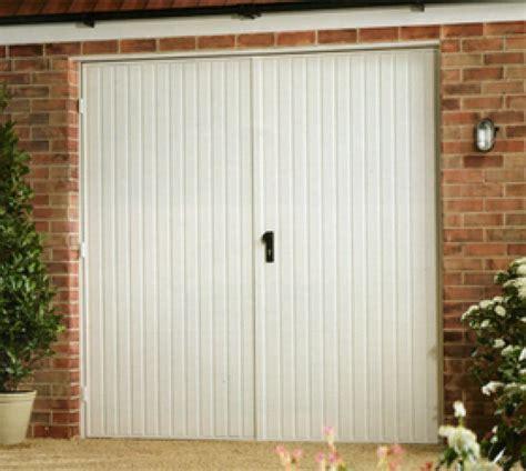 steel side hinged garage doors