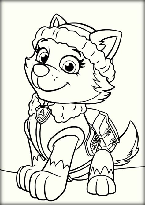 coloring page paw patrol everest paw patrol coloring pages color zini